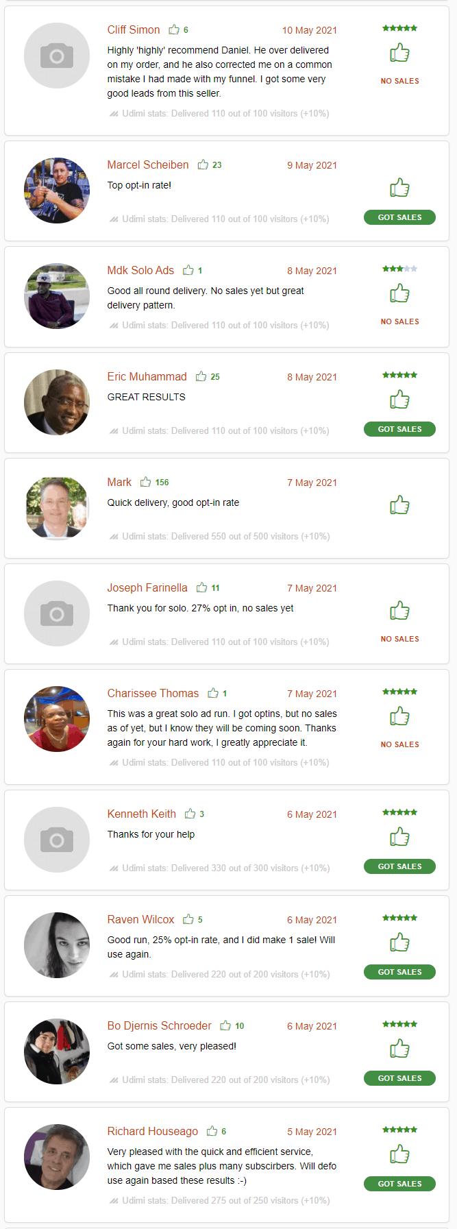 Udimi solo ads customer reviews