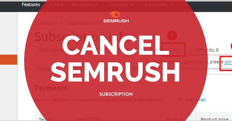 cancel Semrush subscription