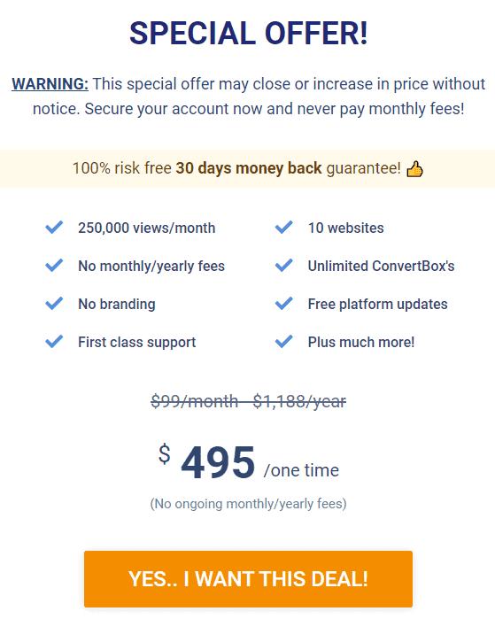 convertbox-lifetime-deal-price