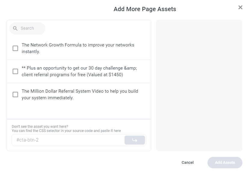 Add more page assets