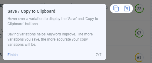 Save and copy ad variants to clipboard