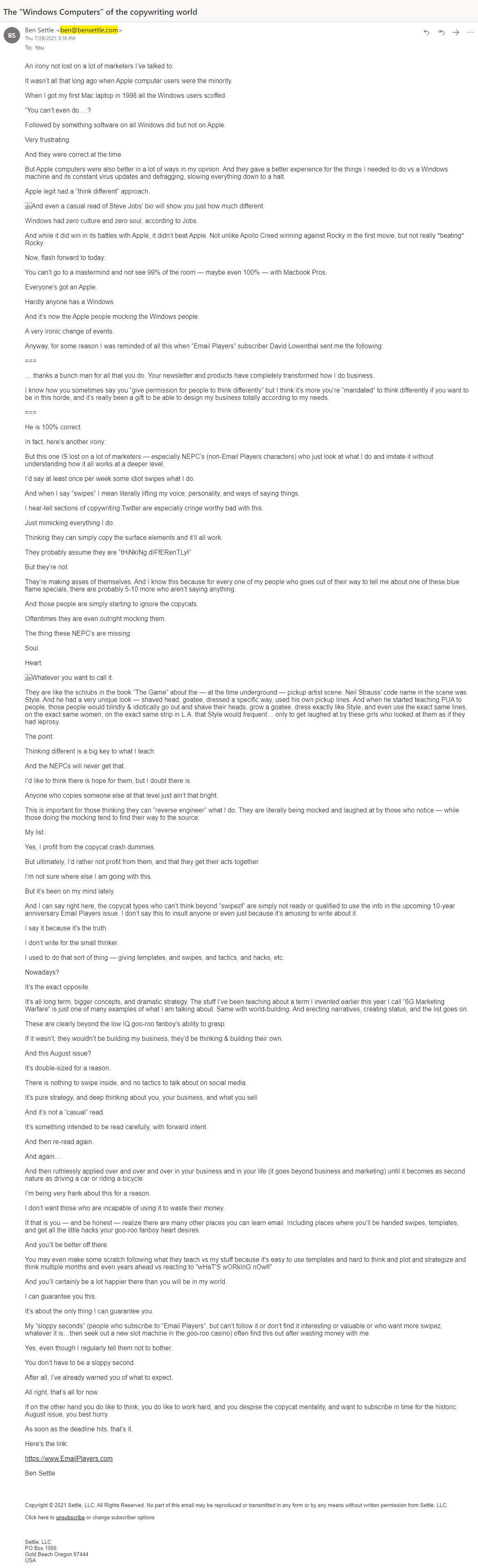 ben-settle-email