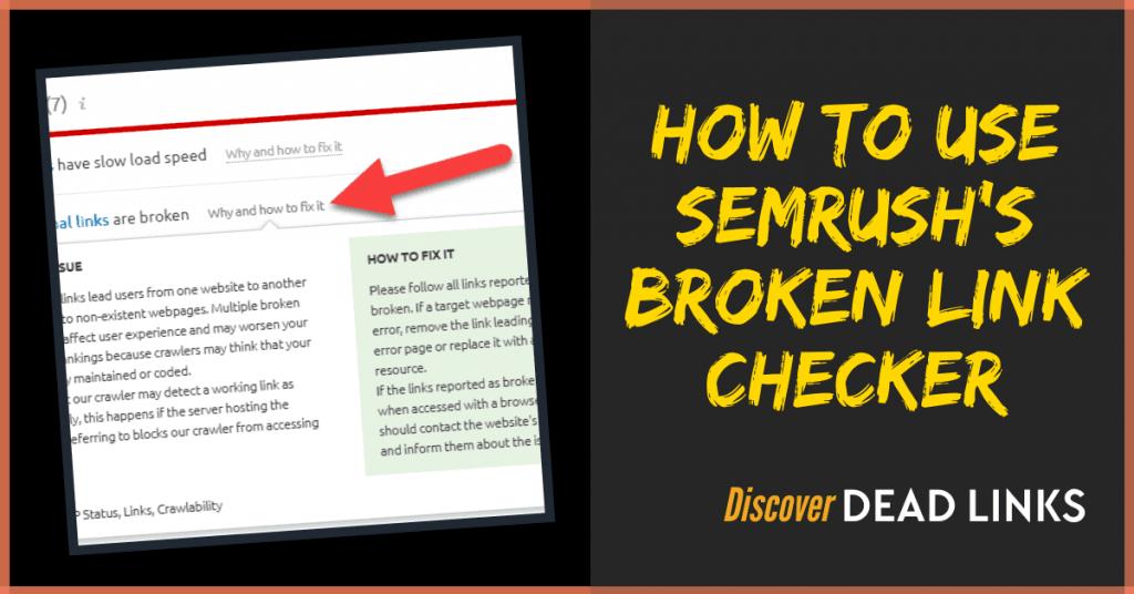 Semrush broken link checker featured