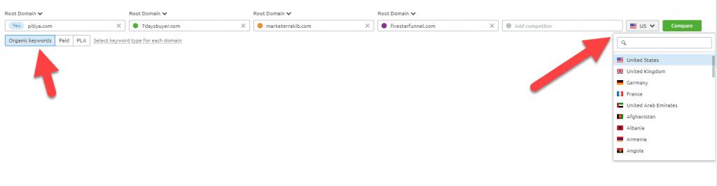 semrush-keyword-gap-settings
