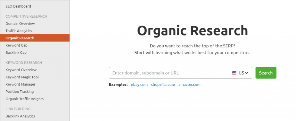 semrush-organic-research