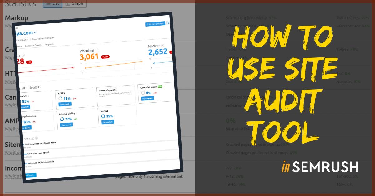 semrush site audit tool