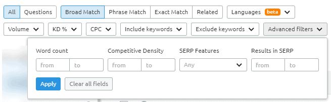 advanced-filters-semrush-keyword-magic