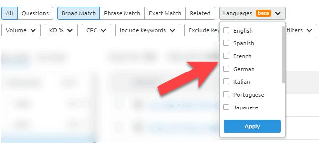 language-filter