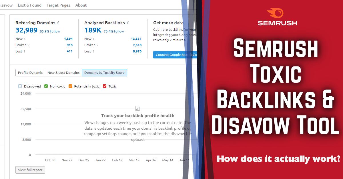 semrush toxic backlinks disavow tool