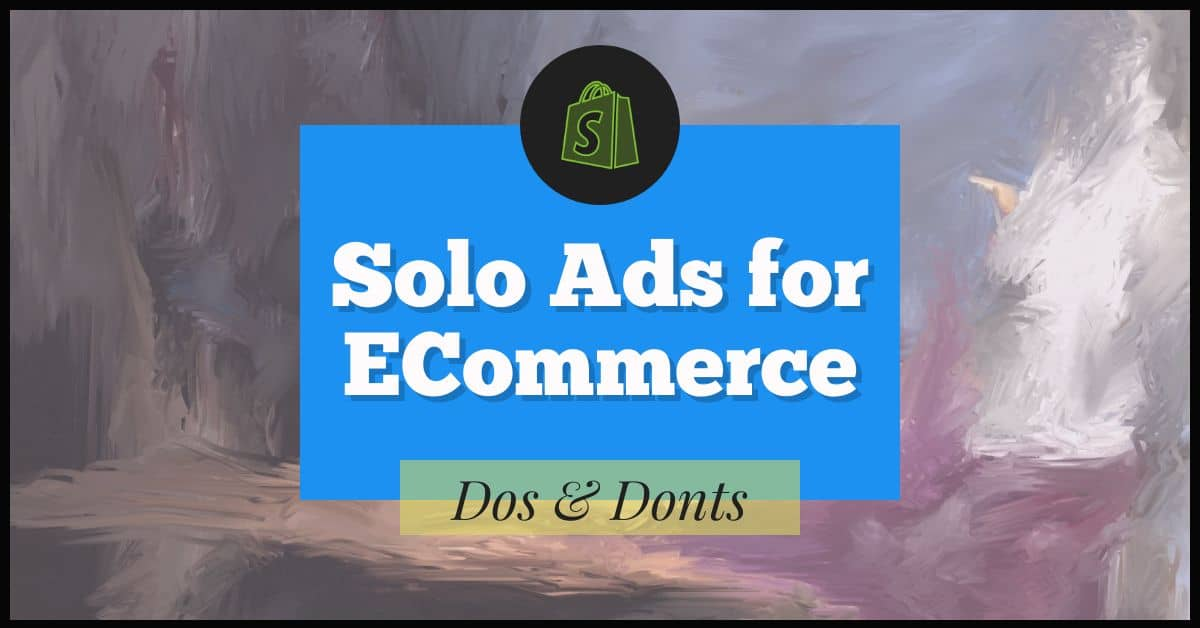 solo ads for ecommerce